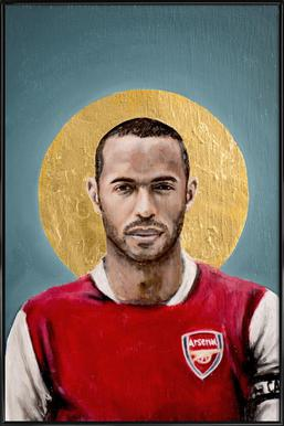 Football Icon - Thierry Henry Framed Poster