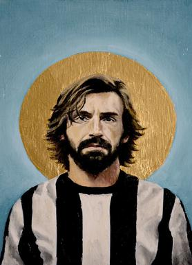 Football Icon - Andrea Pirlo Canvas Print
