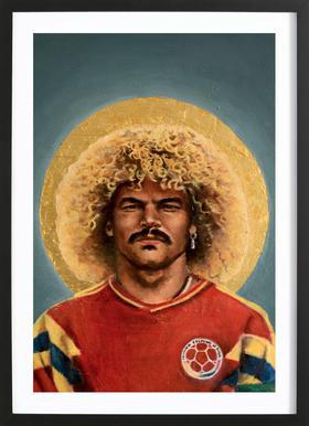 Football Icon - Carlos Valderrama Framed Print