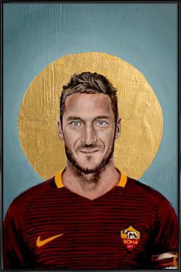 Football Icon - Francesco Totti Framed Poster