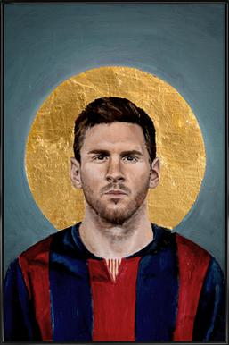Football Icon - Lionel Messi Framed Poster