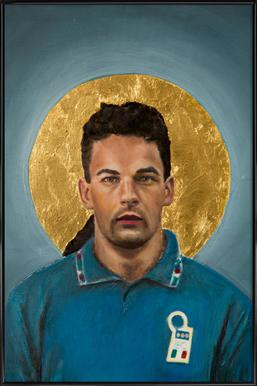 Football Icon - Roberto Baggio Framed Poster