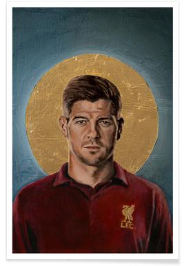 Football Icon - Steven Gerrard Poster