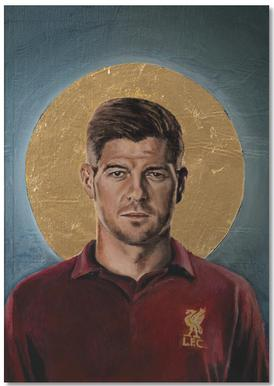 Football Icon - Steven Gerrard Notebook