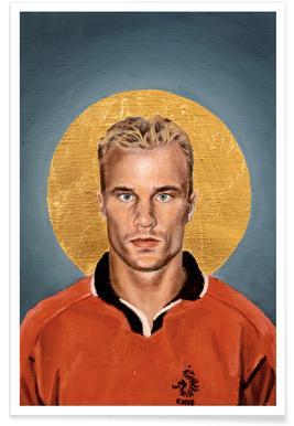 Football Icon - Denis Bergkamp Poster