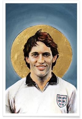 Football Icon - Gary Lineker Poster