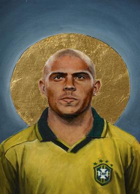 Football Icon - Ronaldo Canvas Print