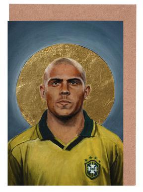 Football Icon - Ronaldo Greeting Card Set