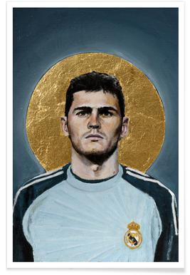 Football Icon - Iker Casillas Poster