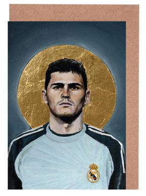 Football Icon - Iker Casillas Greeting Card Set