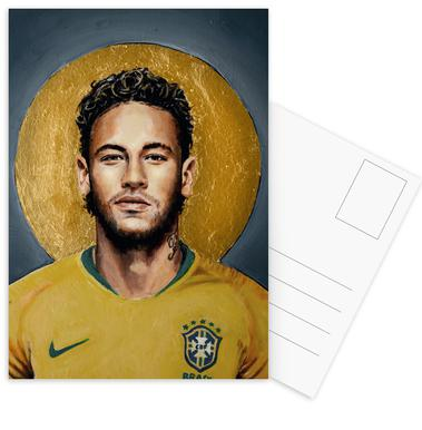 Football Icon -Neymar Postcard Set