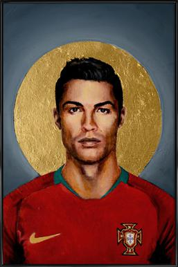 Football Icon - Cristiano Ronaldo Framed Poster