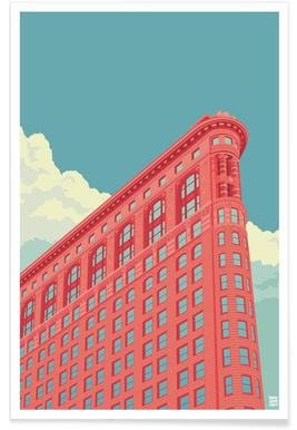 Flatiron Building New York City - Premium Poster