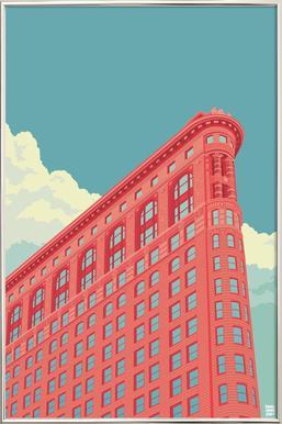 Flatiron Building New York City -Poster im Alurahmen
