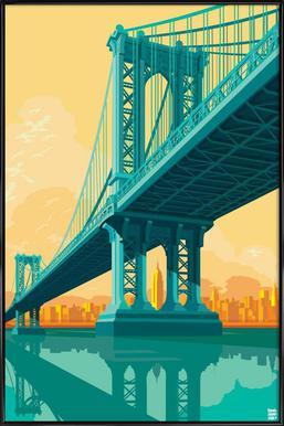 Manhattan Bridge New York City Framed Poster