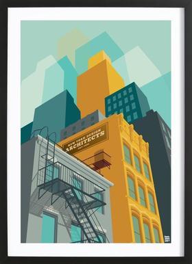 Tribeca New York City -Bild mit Holzrahmen