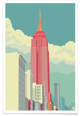5th Avenue New York City - Poster