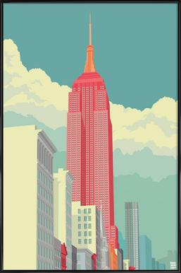 5th Avenue New York City - Poster in Standard Frame