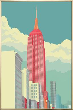 5th Avenue New York City -Poster im Alurahmen