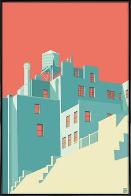 The Village New York City - Poster im Kunststoffrahmen