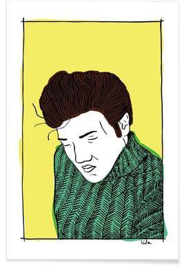 Elvis Yellow affiche