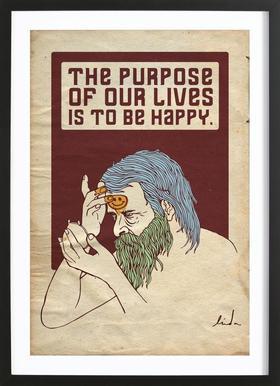 The Purpose affiche sous cadre en bois