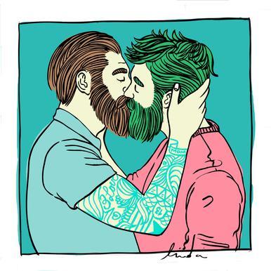 Men Kiss 2 Acrylic Print