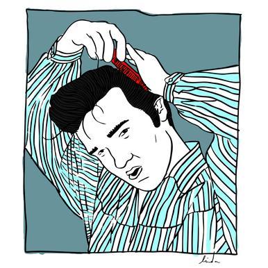 Elvis Blue Impression sur alu-Dibond