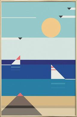 Quiet Sea -Poster im Alurahmen