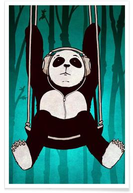 Panda swing Poster