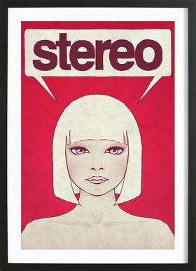 Stereo -Bild mit Holzrahmen