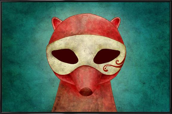 Death As A Fox In A Mask Framed Poster