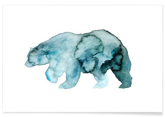 Bear Watercolour Poster
