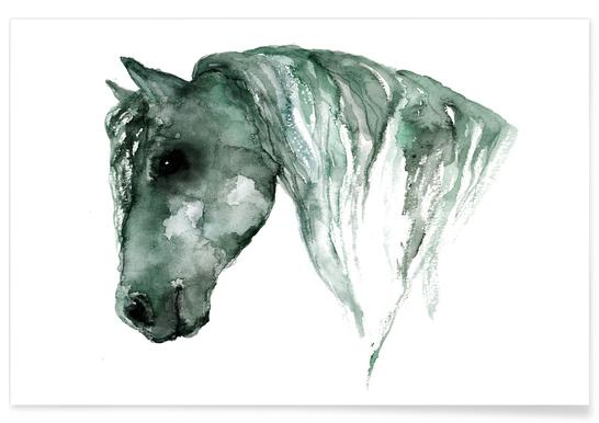 Horse Watercolour Poster
