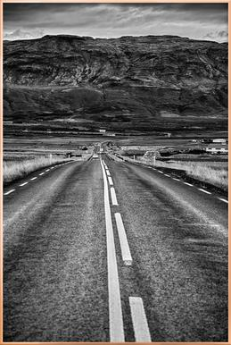 Road to the Mountains Poster in Aluminium Frame