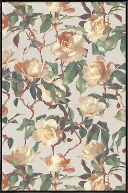 Vintage Roses -Bild mit Kunststoffrahmen
