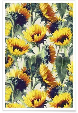 Zonnebloemen - patroon poster