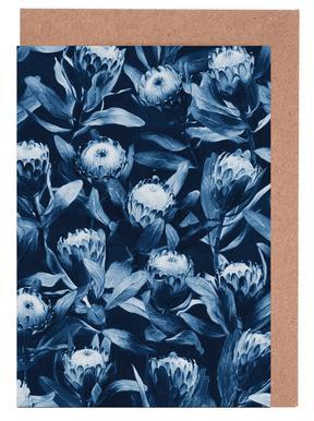 Evening Proteas - Denim Blue