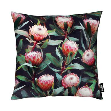 Evening Proteas in Color coussin