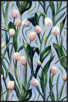 Waiting On The Blooming – Tulip Pattern Framed Poster
