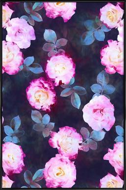 Twilight Roses -Bild mit Kunststoffrahmen