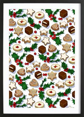 Christmas Treats And Cookies Framed Print