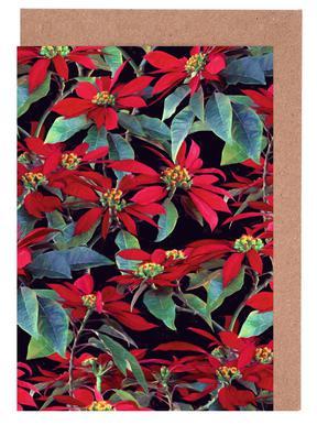 Painted Christmas Poinsettias