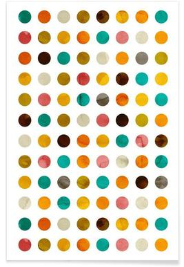 Autumnal Polka Dot Poster