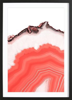 Living Coral Agate ingelijste print