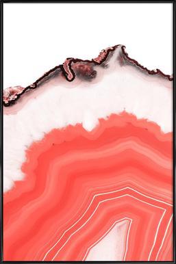 Living Coral Agate ingelijste poster