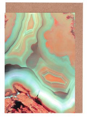 Living Coral Blue Agate wenskaartenset