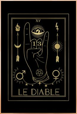 Le Diable Poster in Aluminium Frame
