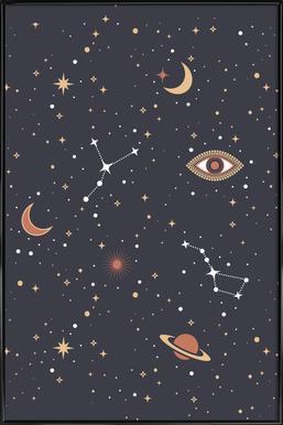 Mystical Galaxy Framed Poster