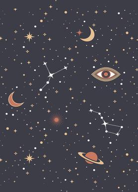 Mystical Galaxy canvas doek